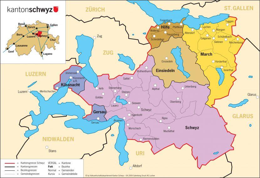 Karte von Schwyz