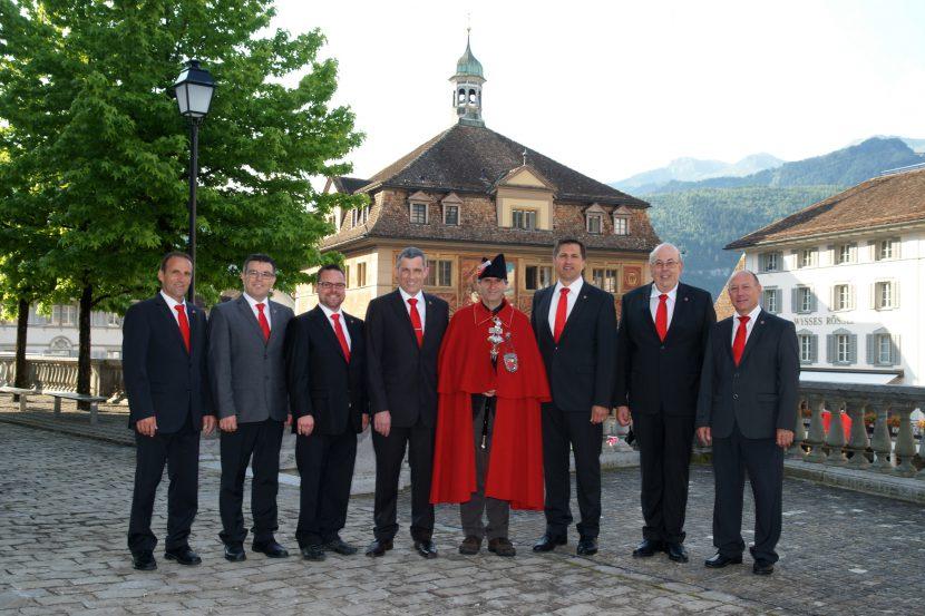 Gruppenfoto Bezirkrat Schwyz 2016, Homepage