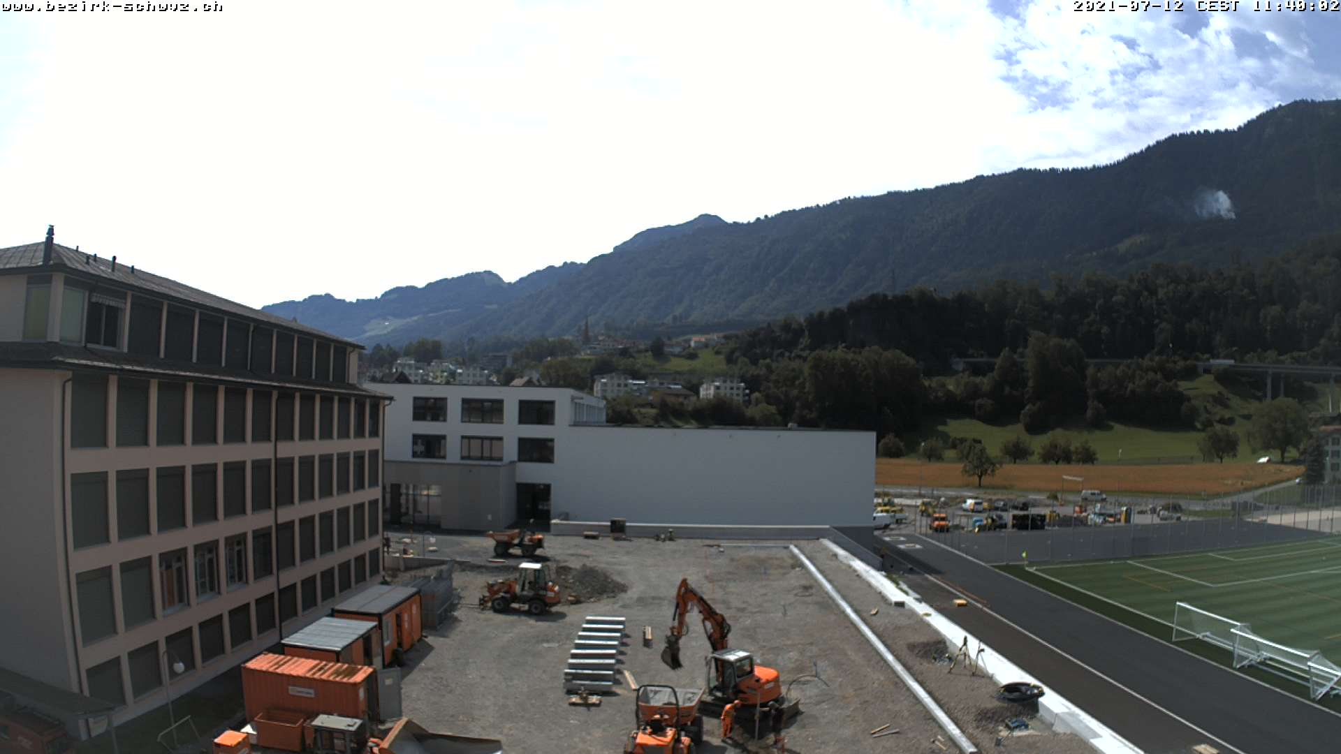Webcam-Bild von der Baustelle